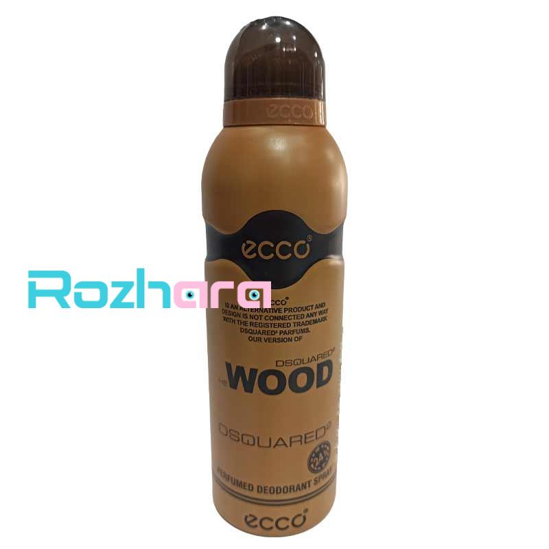 اسپری مردانه اکو مدل وود دسکوارد 200 میل ecco wood dsquared2