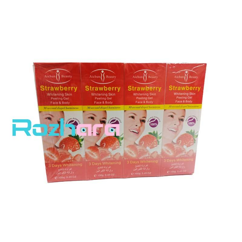 ژل لایه بردار(اسکراب)آیچون بیوتی Aichun Beauty عصاره توت فرنگی