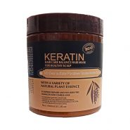 ماسک مو کراتین اصل بدون سولفات و پارابن برزیلی قهوه ای با اسانس گیاه طبیعی keratin