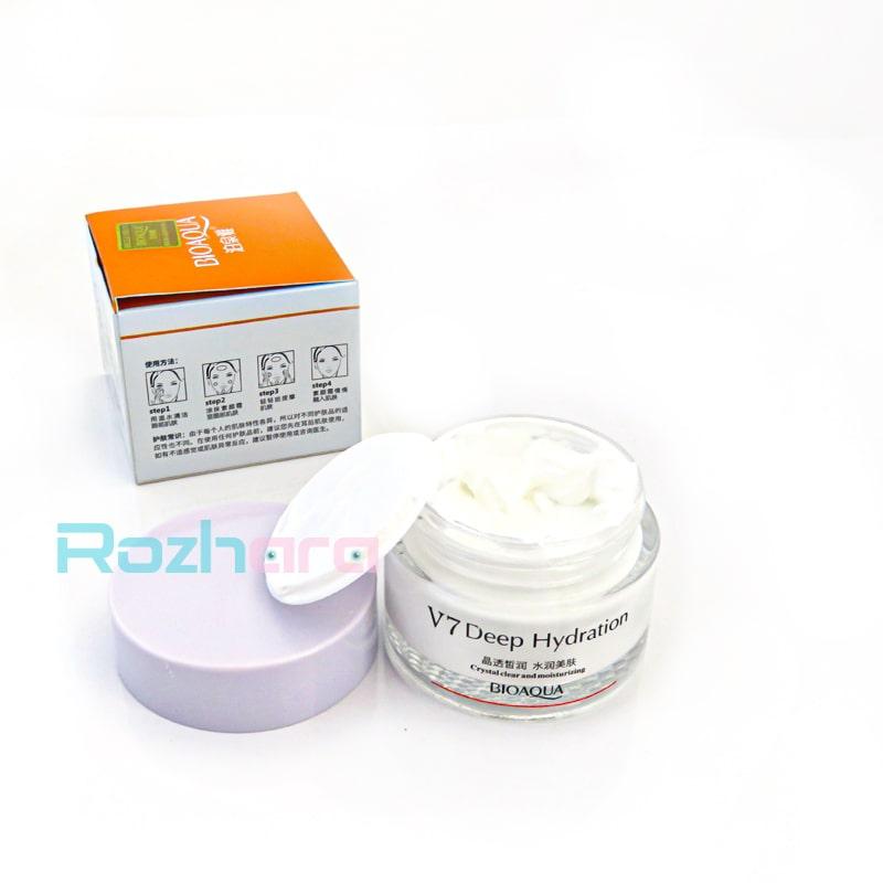 کرم روشن کننده قوی و ویتامینه V7 بیوآکوا BIOAQUA Toning Light Cream